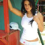 Andrea Rincon, Selena Spice Galeria 33: Gorra Azul, Cachetero Azul Foto 59