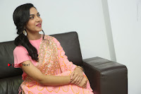 Actress Ritu Varma Pos in Beautiful Pink Anarkali Dress at at Keshava Movie Interview .COM 0338.JPG