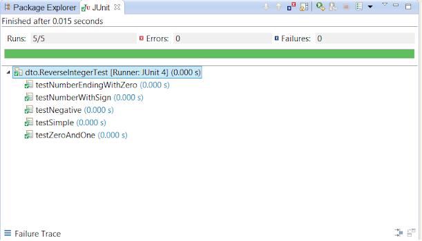 How to reverse Integer in Java - Leetcode Solutin JUnit tests