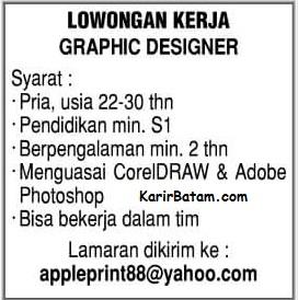 Lowongan Kerja PT. Apple Print 88