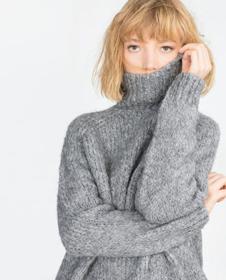 Zara Sweater With Roll Neck Collar
