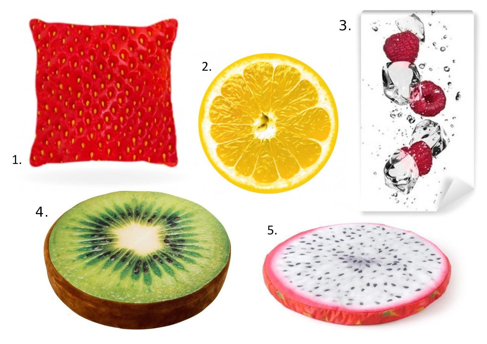 dodatki do wnetrz z motywem owoców