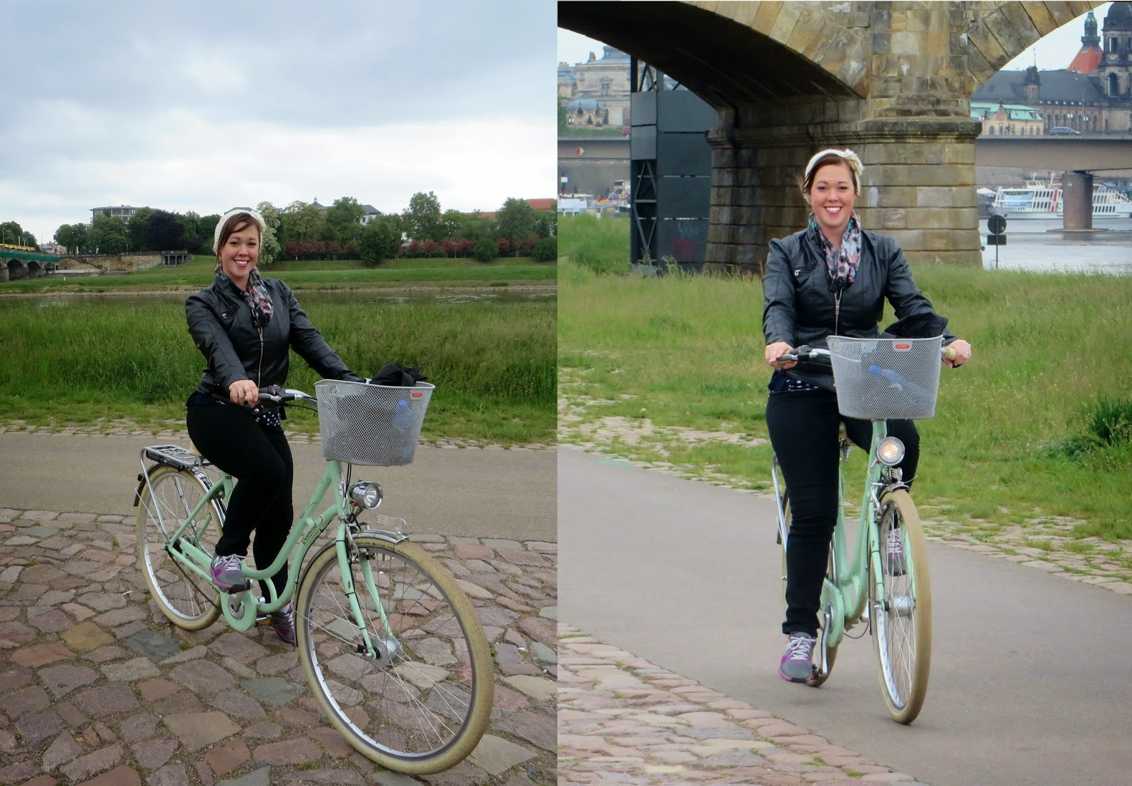 River Elbe, Dresden, Germany, Cycling, Vintage bikes