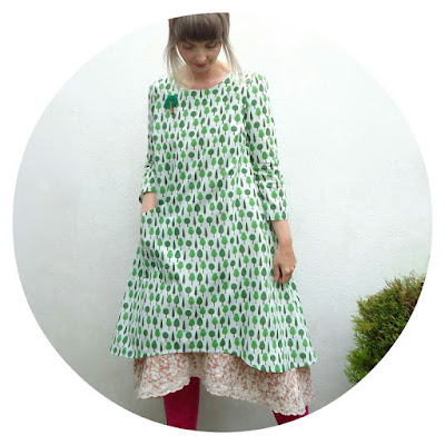 Tree print dress with petticoat by Ivy Arch