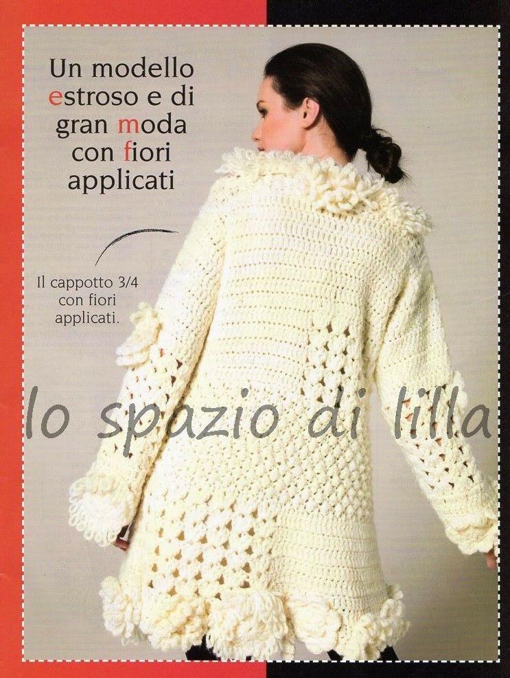 Lo Spazio Di Lilla Cappotto Crochet Con Spiegazioni Crochet Coat