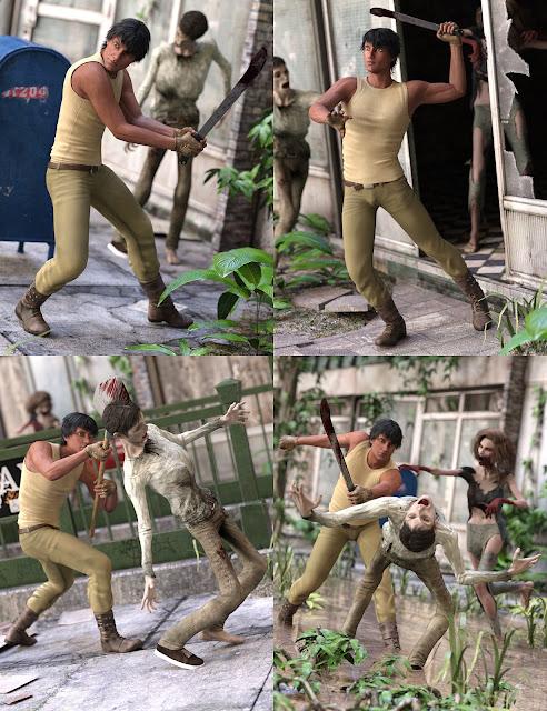 Zombie Defense Poses