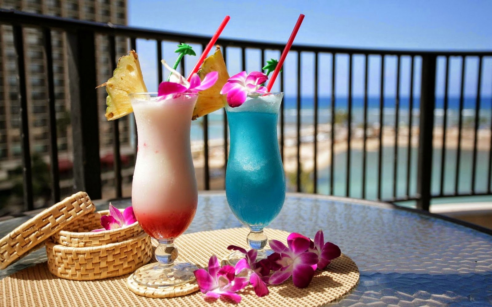 Cocktails in het hotel
