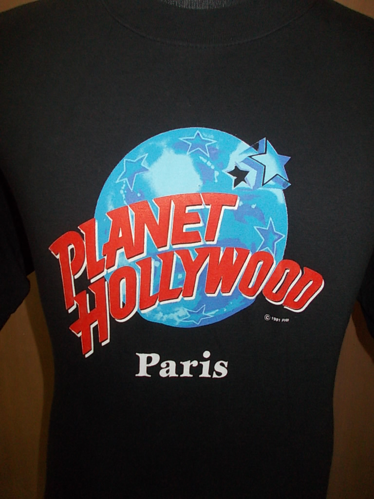 Afbundle clothing vtg planet hollywood paris 1991 t shirt for Planet hollywood t shirt