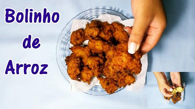 BOLINHO DE ARROZ - DELICIOSO