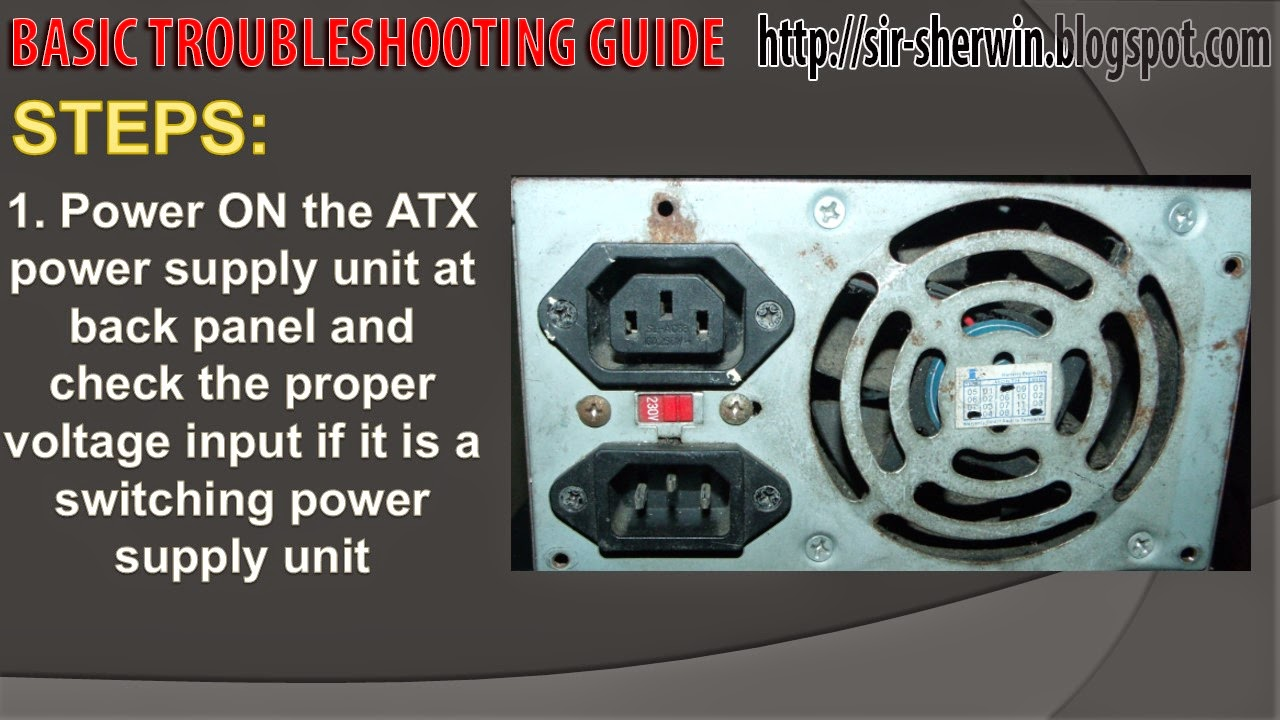 Modern Pc Power Supply Troubleshooting Guide Pattern - Electrical ...