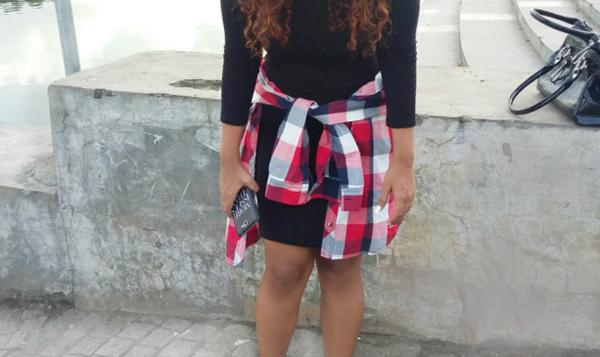 plaid shirt and dress indian fashion blogger