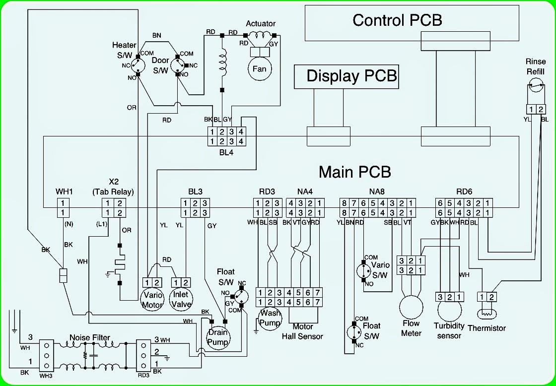 LG LDS4821 DISHWASHER – WIRING DIAGRAM  ERROR CODES