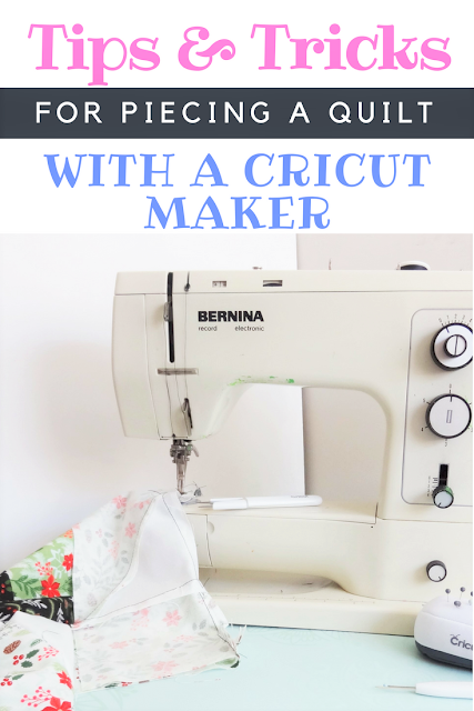 Tips and tricks on how to piece quilt block squares using the Cricut Maker