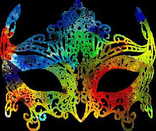 Mascara de carnaval cheia de cor 5 png