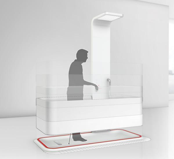 une baignoire bien pratique. Black Bedroom Furniture Sets. Home Design Ideas