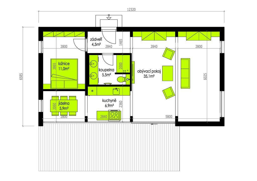 zajímavý projekt domu