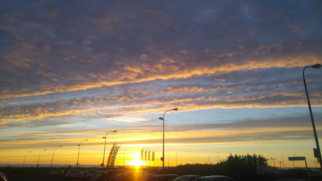 זריחה איסלנדת בשדה התעופה