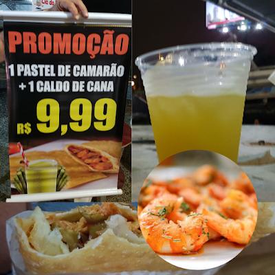 caldo de cana e pastel de camarão pastel de camarão frito na hora