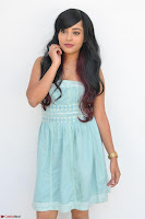 Sahana New cute Telugu Actress in Sky Blue Small Sleeveless Dress ~  Exclusive Galleries 007.jpg