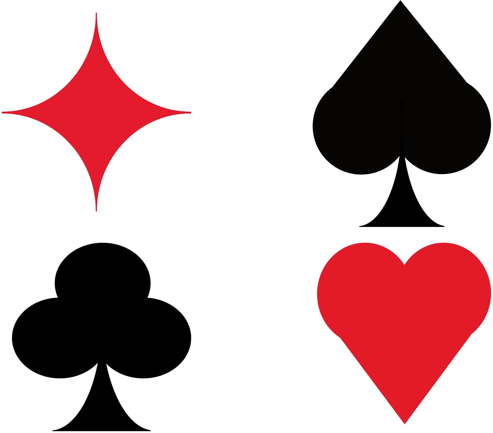 cartas de casino para colorear