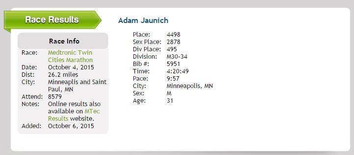 Inspired to Share: Adam Jaunich Personal Blog: running