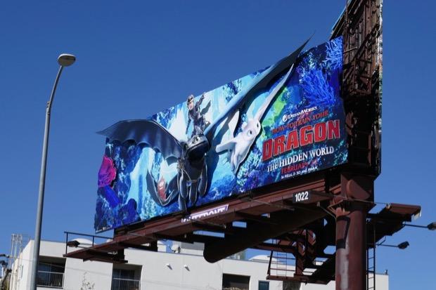 Train Your Dragon Hidden World 3D billboard