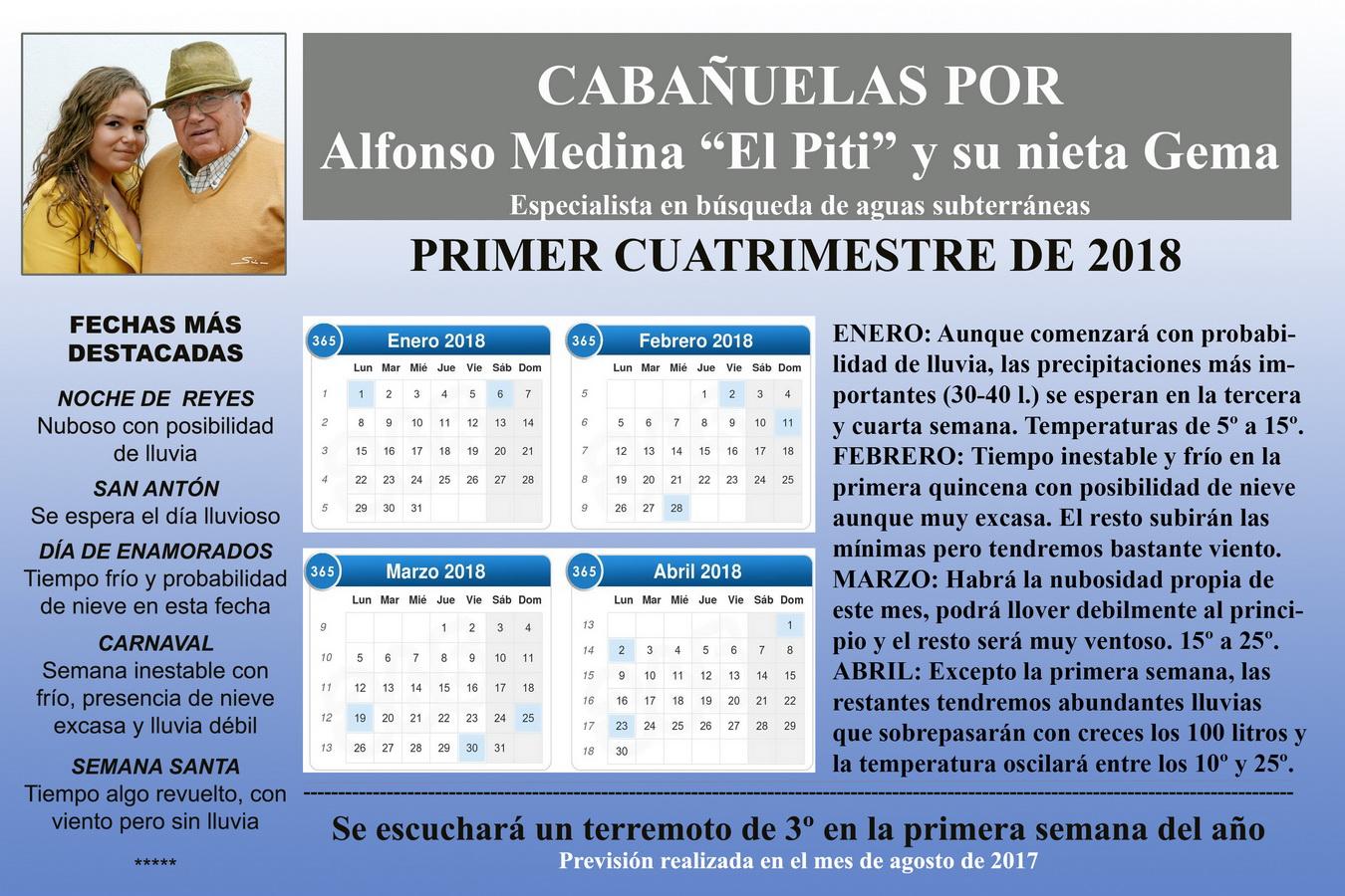Calendario Cabanuelas.Caballeros Veinticuatro De Ubeda Cabanuelas 2018 Semana
