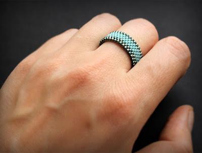 купить украшения из бисера ручной работы женские кольца на мизинец