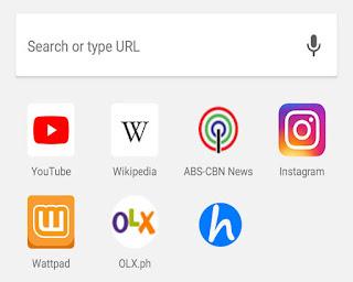 Google Chrome Popular Sites
