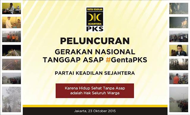PKS Luncurkan Gerakan Nasional Tanggap Asap