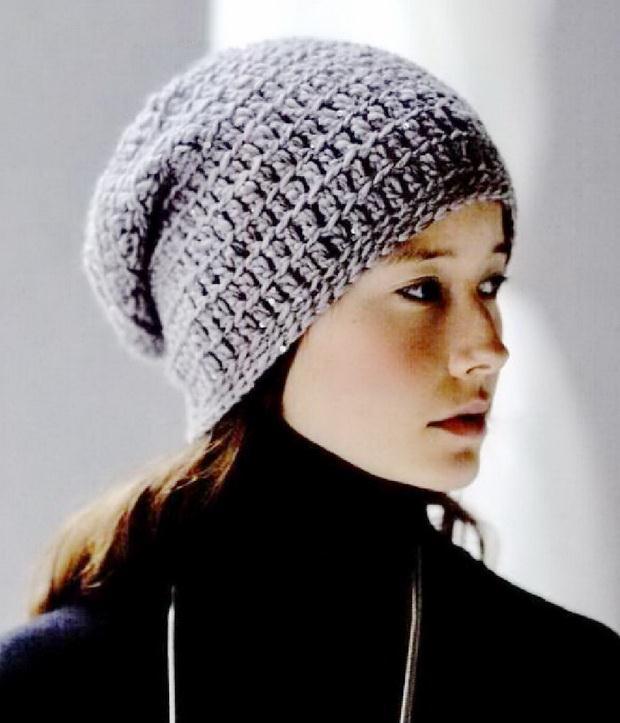 Easy Crochet Beanie, Slouchy crochet Beanie