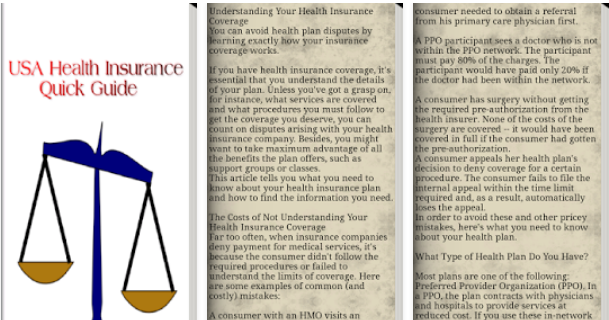 USA Health Insurance Guide Mobile Application