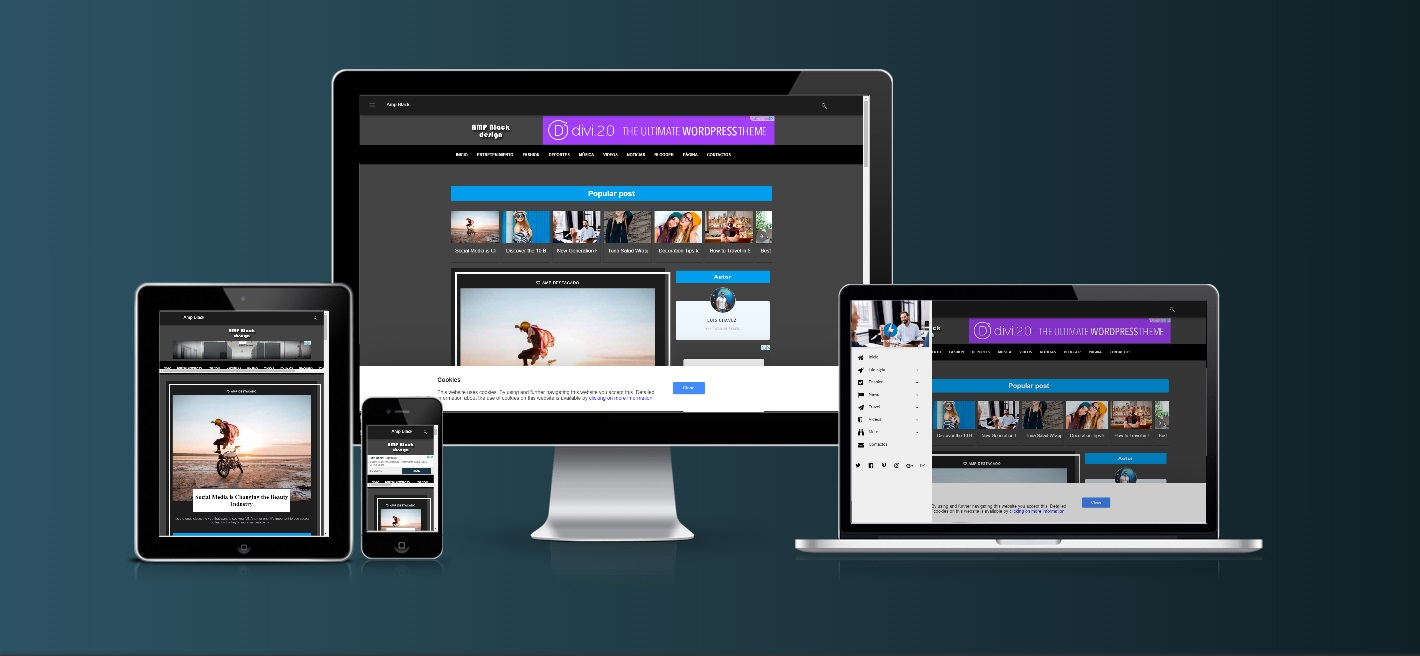 Amp Black - Premium Amp Html Blogger Template