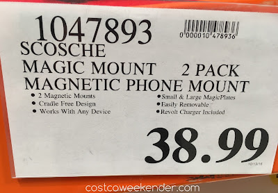 Deal for the Scosche MagicMount Magnetic Phone Mount at Costco