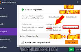 activation key for avast antivirus 2018
