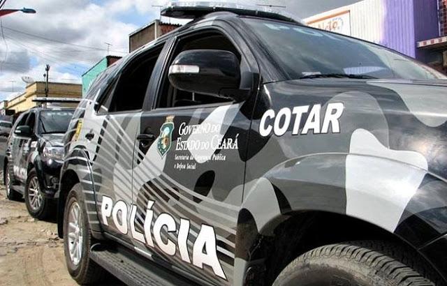 Polícia troca tiros com ladrões de banco em Aracati e chefes do bando foi morto