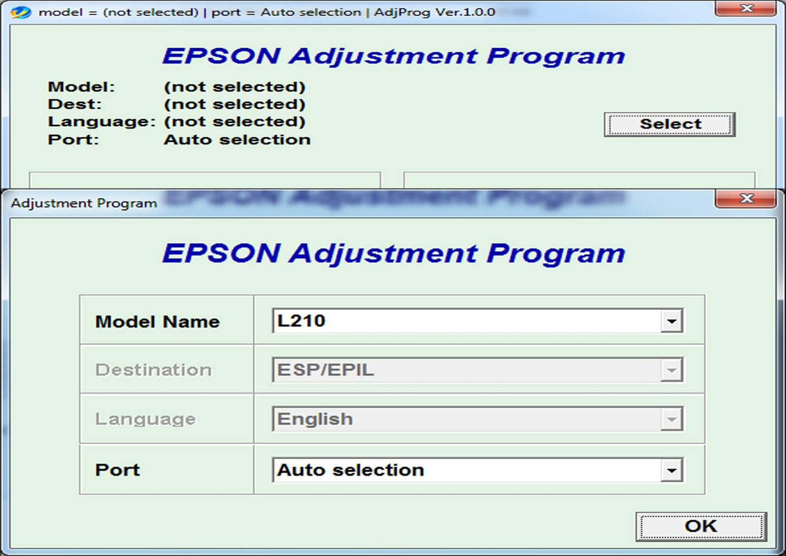 Epson L210 Ink Pad Reset