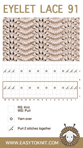 EasyToKnit, #Knit Old Shale stitch
