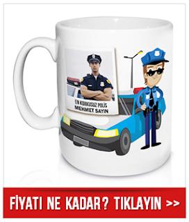 polislere özel kupa bardak