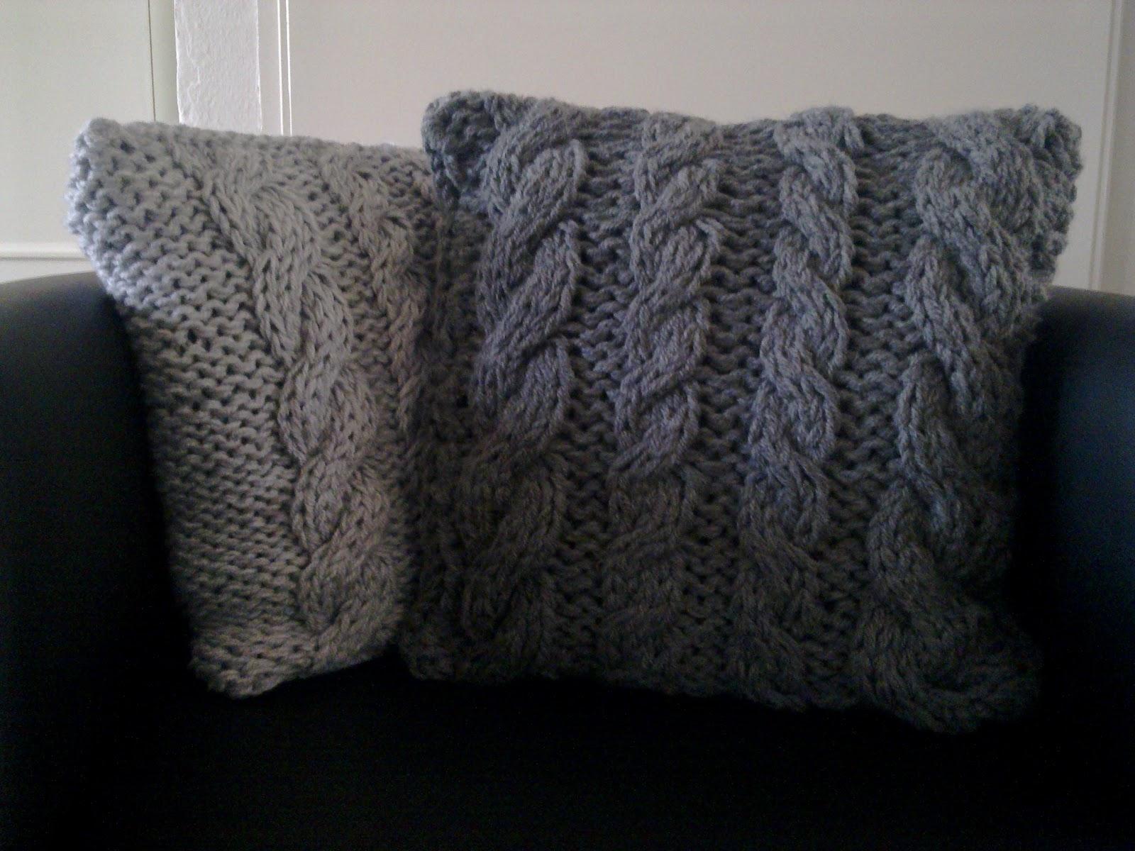 Breipatroon woonkussen kabels