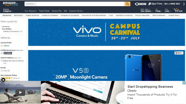 Vivo Campus Carnival on Amazon India: Deals on Vivo V5s, V5 Plus, and More