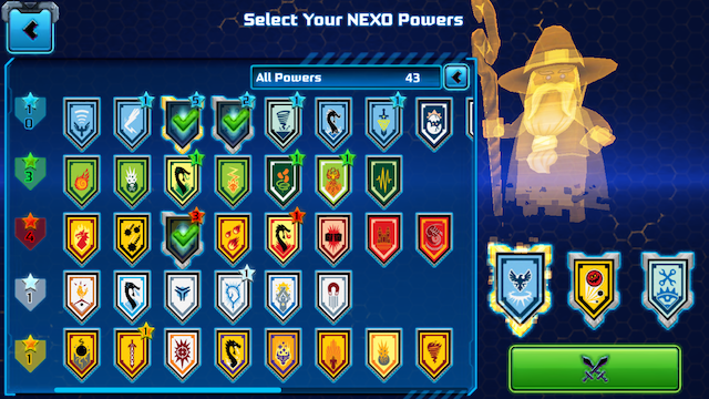 My current power badges which I've managed to collect in the game