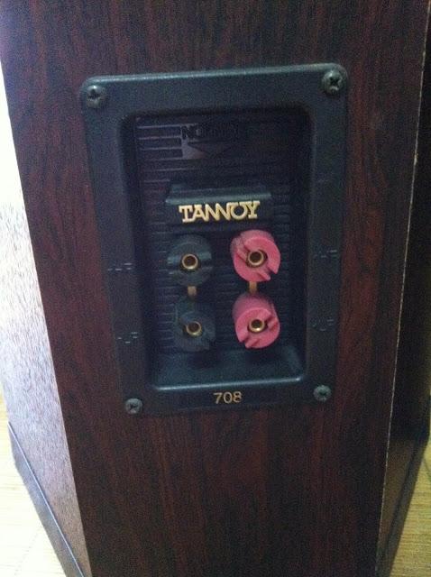 Cận cảnh mặt sau sản phẩm: Loa Tannoy 708 - Made in England