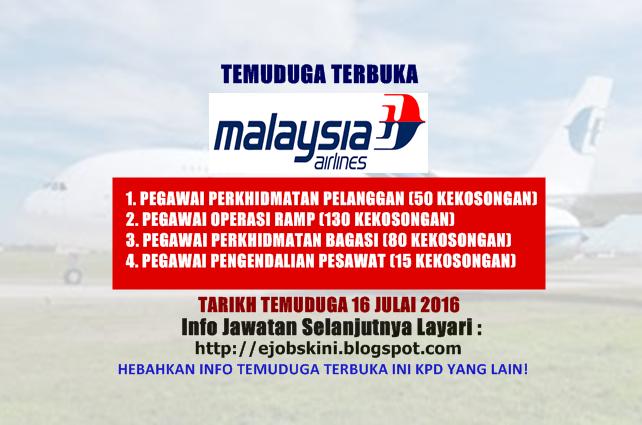 Temuduga Terbuka di Malaysia Airlines Berhad
