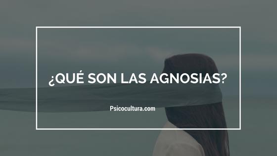 ¿Qué son las agnosias?