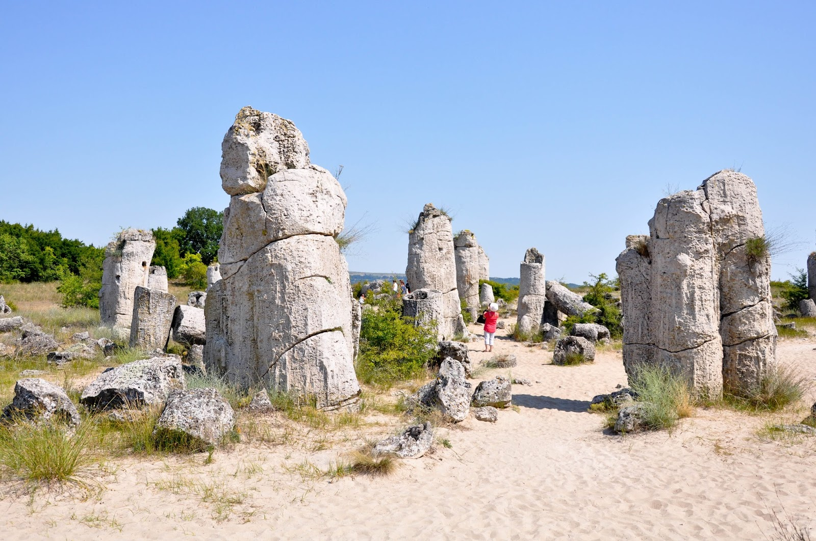 Among the stone pillars, The Stone Forest, Varna, Bulgaria