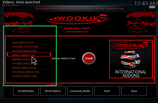Wookie wizard help you install more best kodi addon from all over the world