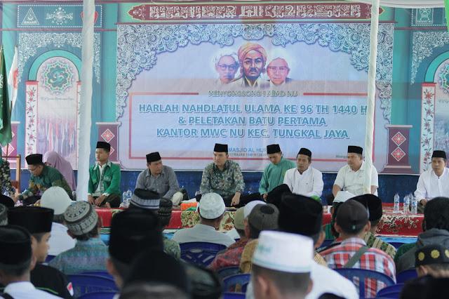 Momentum Harlah Ke-96 Digunakan MWC NU Tungkal Jaya Bangun Gedung Kantor