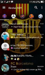 BBM MOD Barcelona Terbaru with Change Background v3.1.0.13 APK