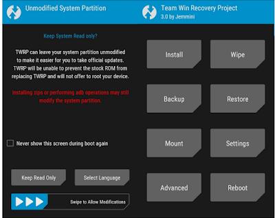 Cara Install TWRP Redmi 3s, 3s Prime dan 3x Dengan Mudah